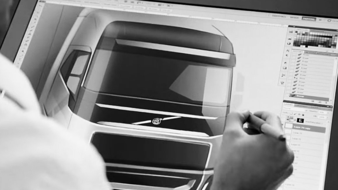Vídeo sobre o design da cabine do Volvo FH